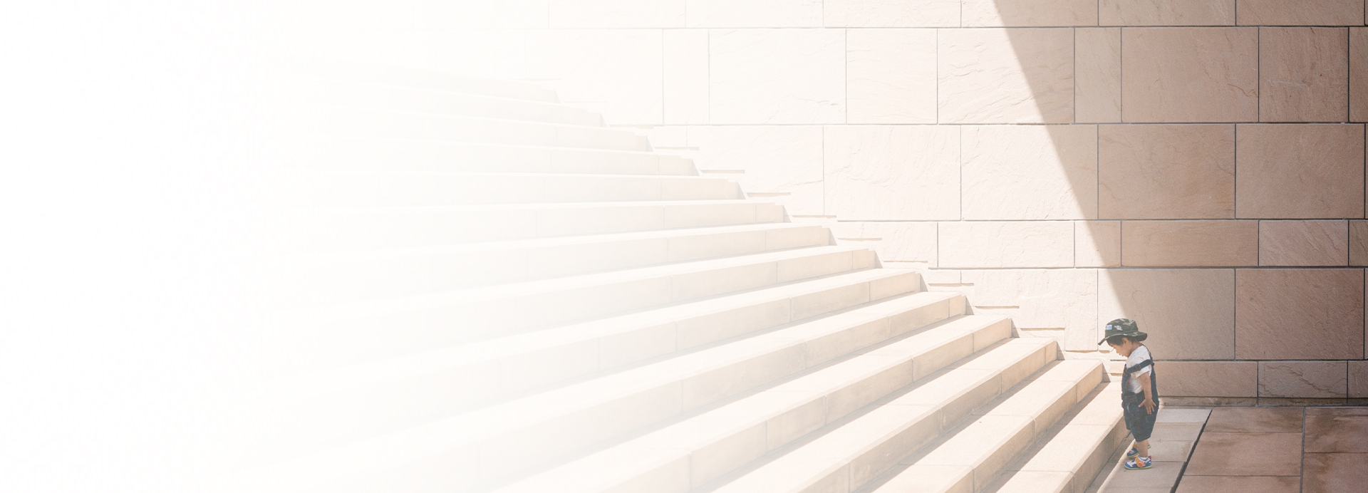 child at steps - steps to success header bg