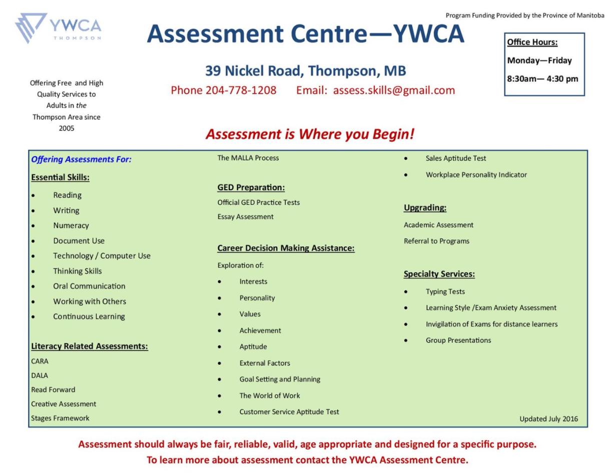 Assessment Centre poster