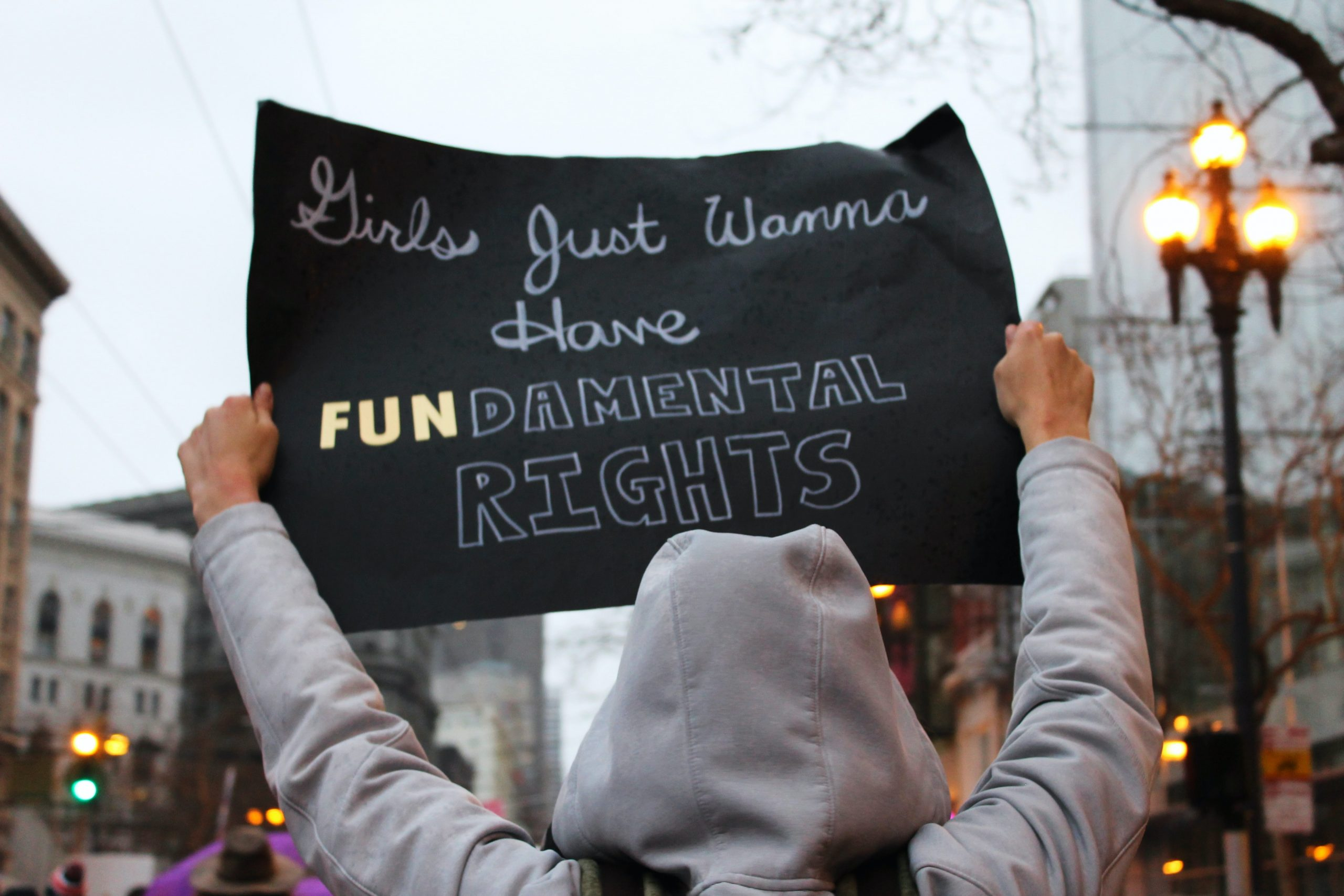 man with sign - girls just wanna have FUNdamental rights