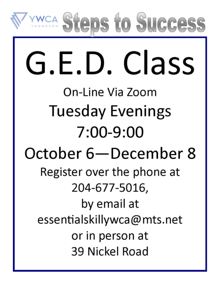 Steps to Success GED class poster