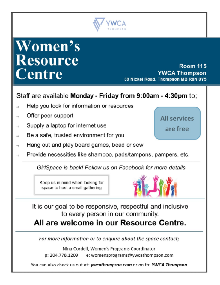 Women's Resource Centre poster